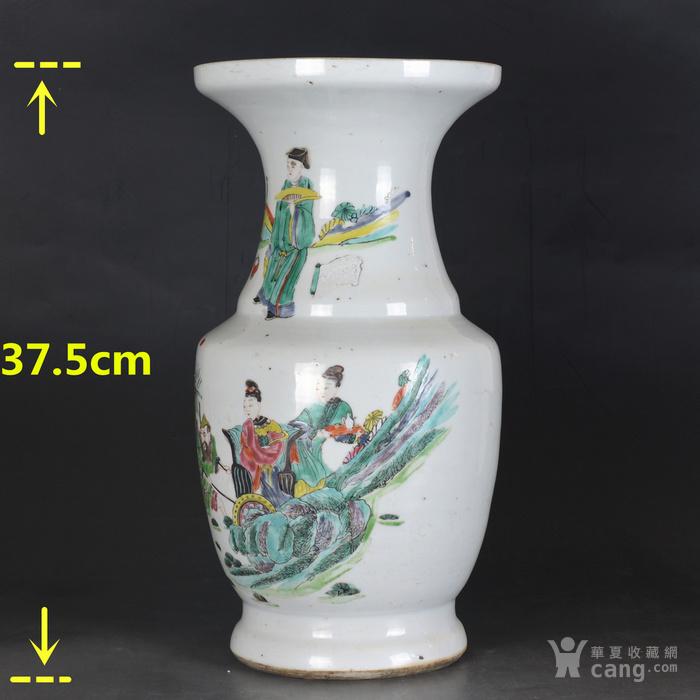 雍正 粉彩人物故事 盘口瓶图2