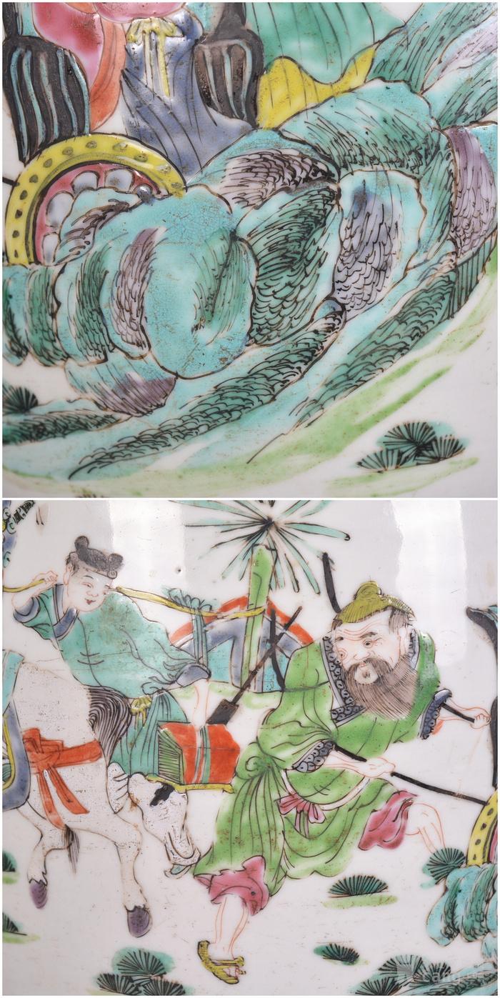 雍正 粉彩人物故事 盘口瓶图10
