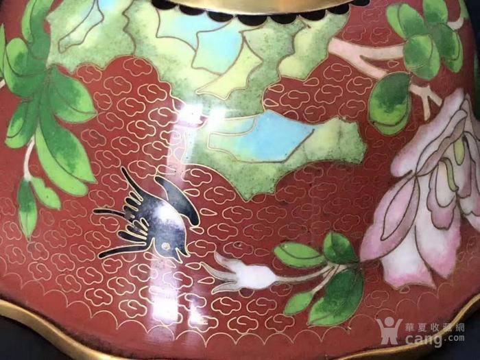 建国初  183 景泰蓝花卉纹碗图7