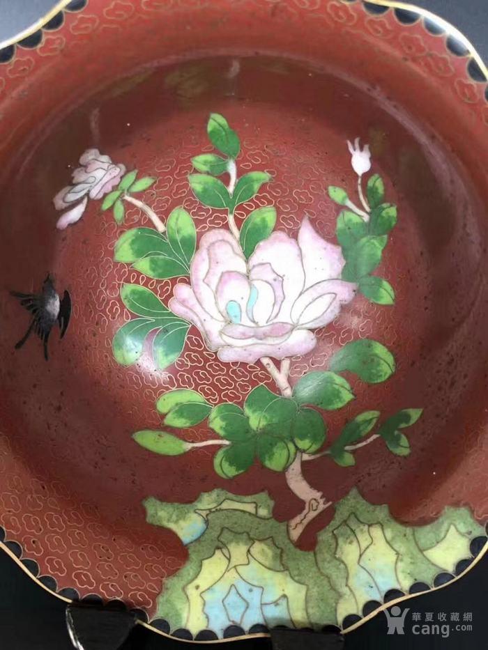 建国初  183 景泰蓝花卉纹碗图4