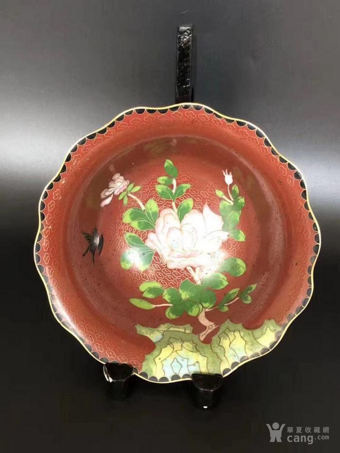 建国初  183 景泰蓝花卉纹碗图3