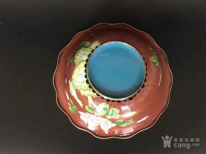 建国初  183 景泰蓝花卉纹碗图6