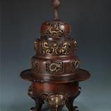 铜三足龙纹熏香炉