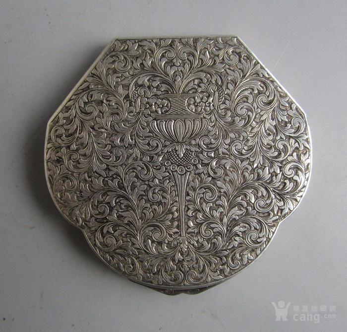 民国纯银化妆粉盒图1