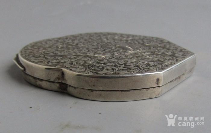 民国纯银化妆粉盒图4