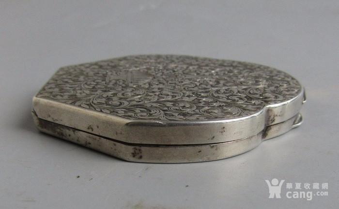 民国纯银化妆粉盒图5