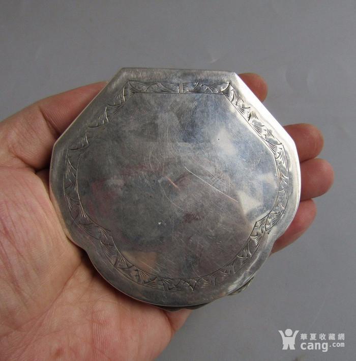 民国纯银化妆粉盒图10
