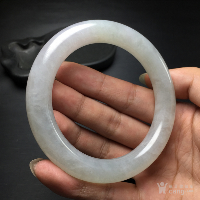 玉泉文玩b921创汇期糯冰种翡翠粗管圆条手镯