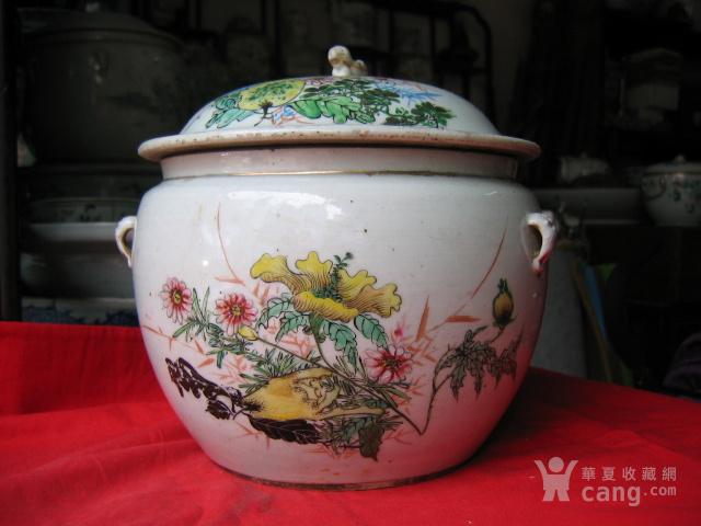 民国瓷绘小名家王顺发作品粉彩花卉纹粥罐 包老