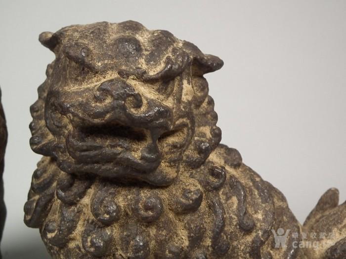 铁制立狮狮子一对图4