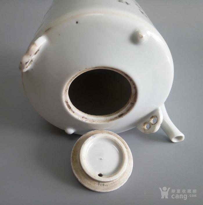 御窑厂画师俞子明人物提梁壶