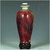 拆迁老城区收来的70年代出口瓷!全网最低价!窑变红釉花瓶