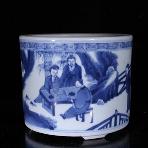 瓷器 陶瓷青花笔筒