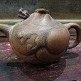 文革鱼化龙紫砂壶