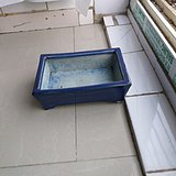 472七支钉烧精品蓝釉花盆