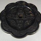 老铜制四方佛葵形大铜镜