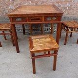 古玩收藏木器老家具黄花梨方桌五件套别墅装修