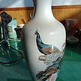 文革唐山孔雀瓶