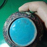 铜胎画珐琅印泥盒