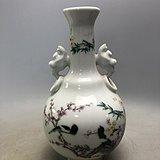 粉彩花鸟瓷瓶A2173