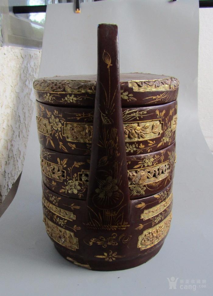 民国竹胎漆器提盒图4