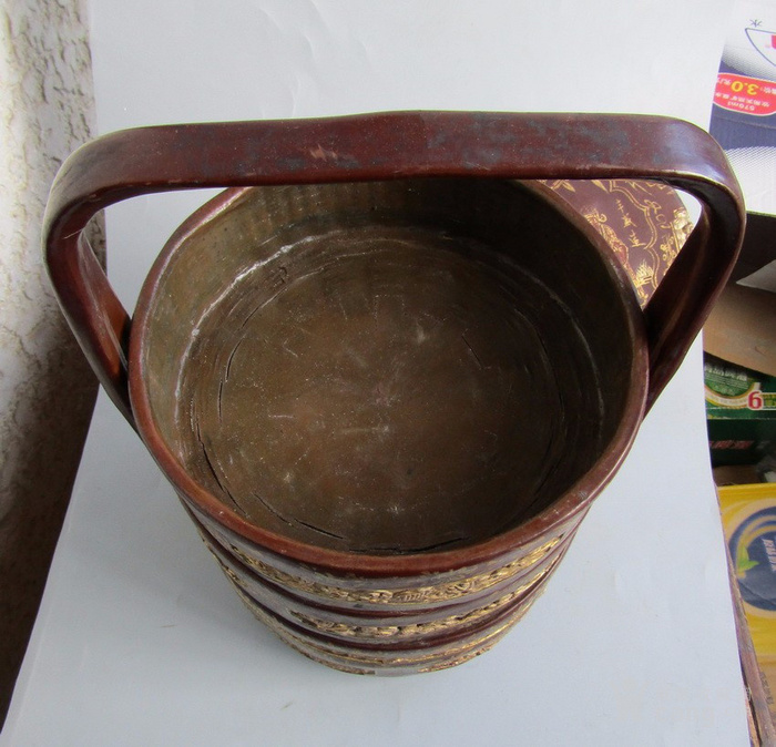 民国竹胎漆器提盒图6
