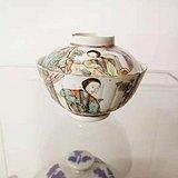 清代瓜楞粉彩茶碗