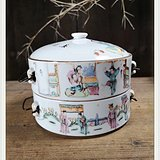 清代老瓷器 瓷碗 直径18厘米BZ 1463