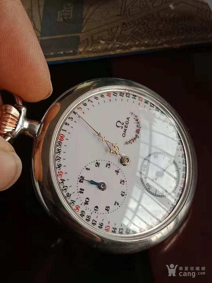 罕有收藏级分针 时针异轴欧米茄银壳大怀表!