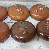 六个黄釉瓷暖壶 全品