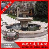 石雕水钵 欧式锈石喷泉 景观喷泉厂家