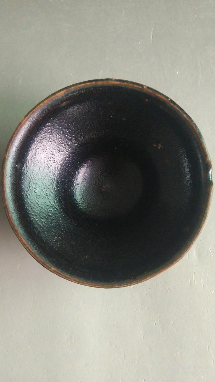 漂亮建窑系 黑芝麻釉小盏