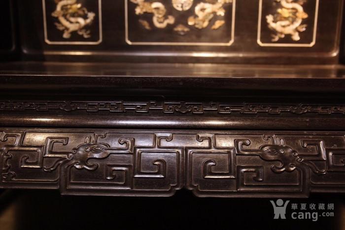 紫檀百宝镶嵌龙纹宝座