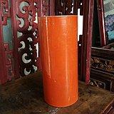 红釉描金帽桶