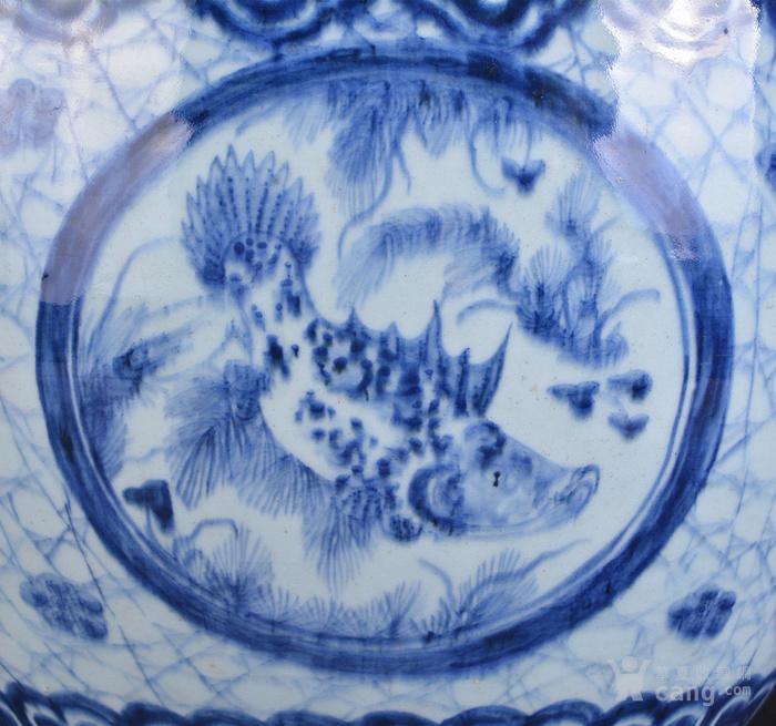 清 青花 鱼草纹 大缸图7