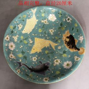 珐琅彩鱼纹盘