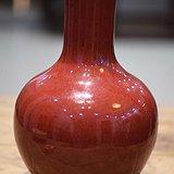 清代红色全品天球瓶