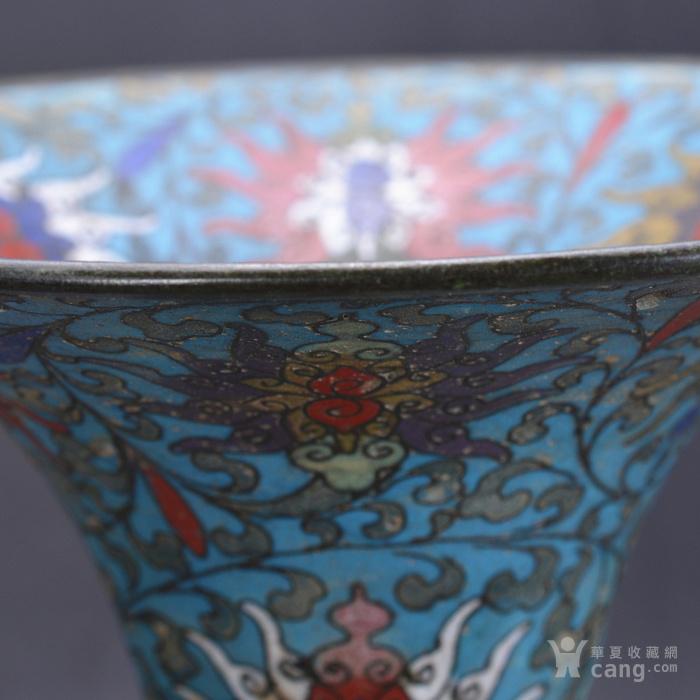 清 景泰蓝 缠枝莲纹 大花觚图8