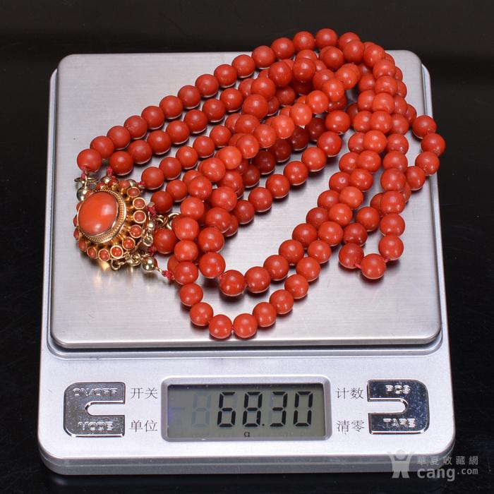 14K金 天然红珊瑚 项链图11