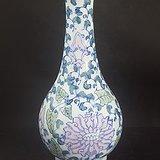 八十年代釉下五彩赏瓶
