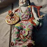文革人物瓷摆件