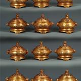 铜鎏金十二生肖香炉