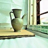 0221越窑精品5代秘色瓷壶,开门的