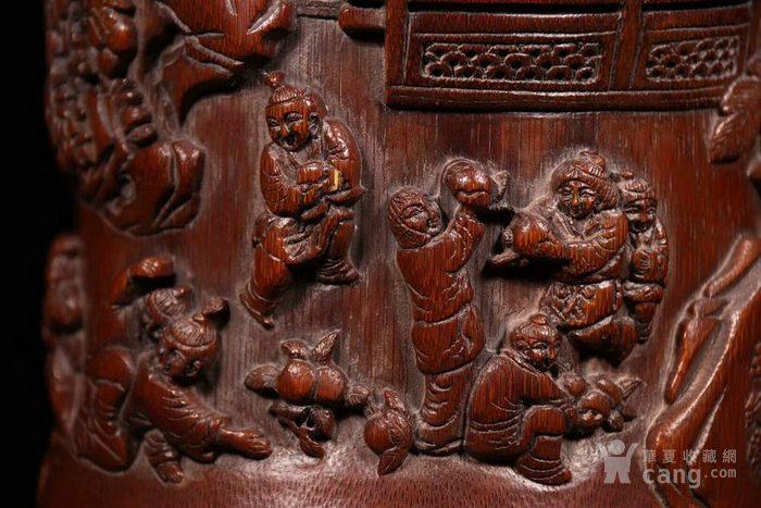 竹雕人物故事笔筒