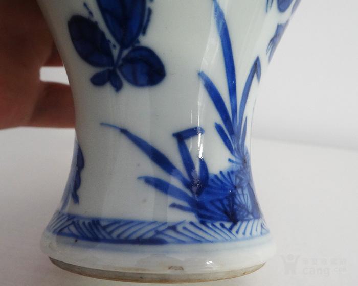 海外回流清康熙青花植物花卉瓶图10