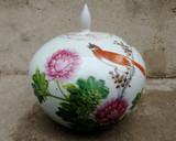漂亮的民国粉彩花鸟罐
