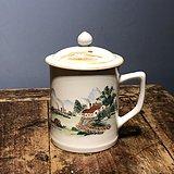 文革 青绿山水 茶杯