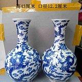 乡下收的传世龙寿青花瓷赏瓶