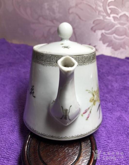 民国江西珍品,花鸟茶壶。