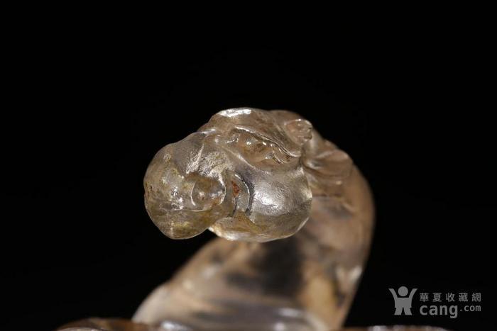 清代:水晶骆驼案上洗